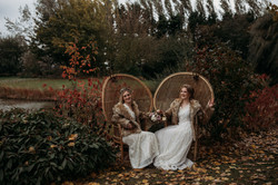 Brides by the lake