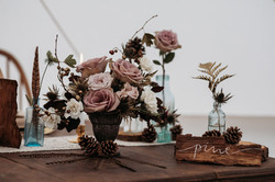 Dusky pink wedding flowers