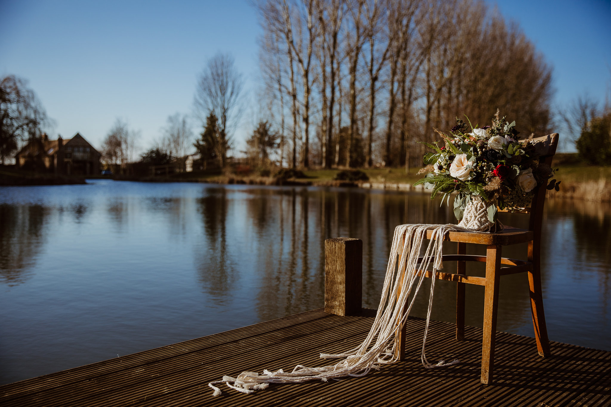 Lakeside winter wedding
