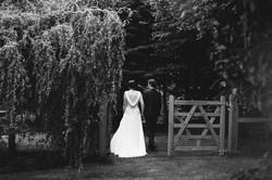 Bride and Groom in gateway