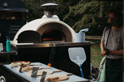 Pizza oven at wedding