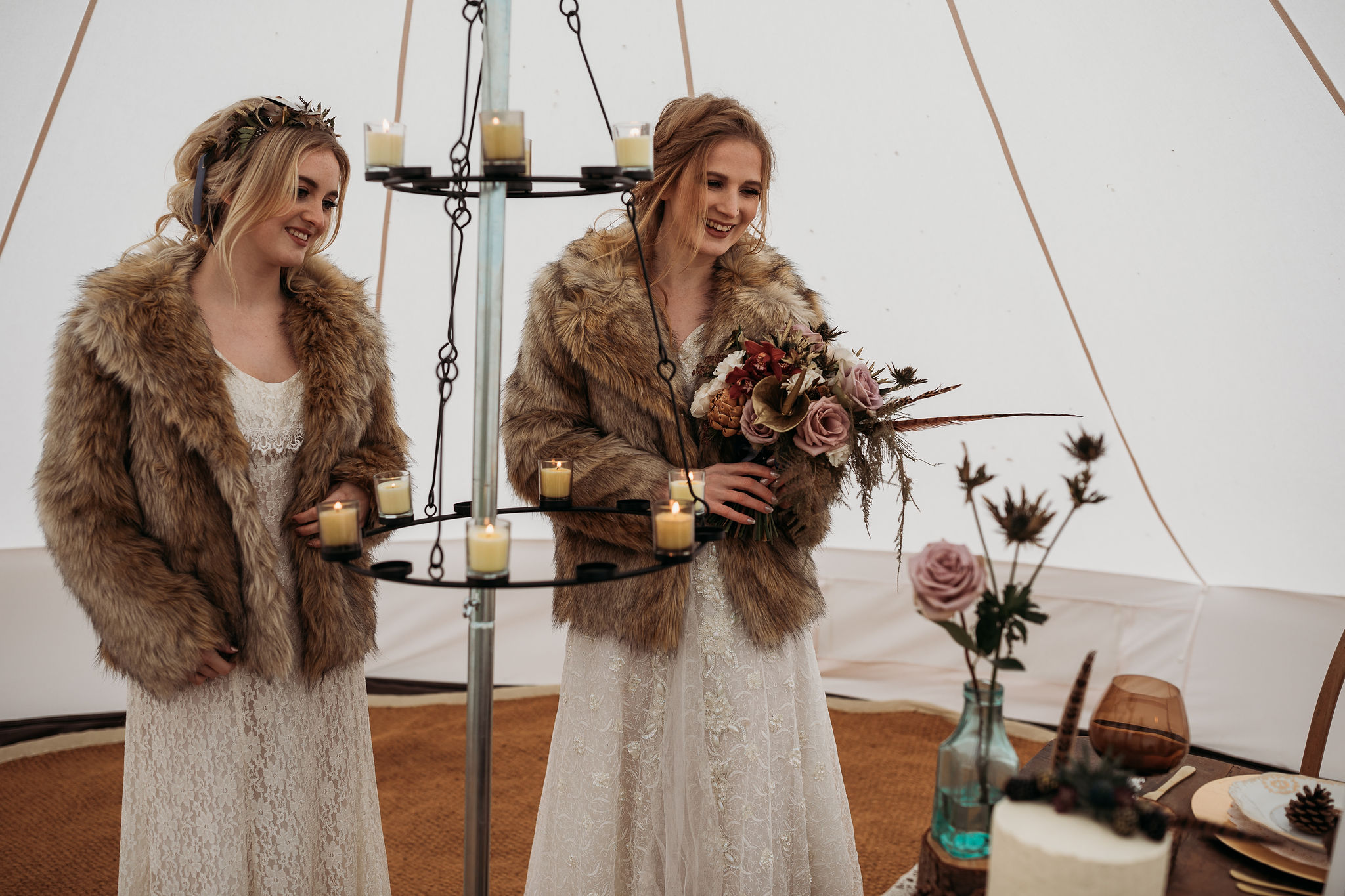 Bell tent wedding