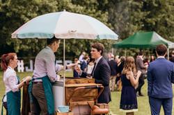 Ice creams at wedding