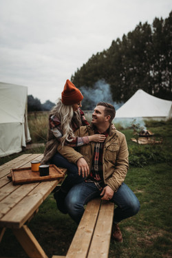 Couple by the Bell Tent