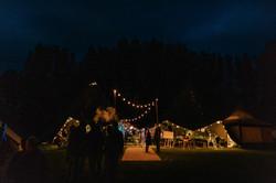 Wedding tipi at night
