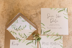 Simple wedding stationary