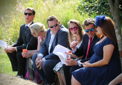 Wedding Guests in the Sunshine