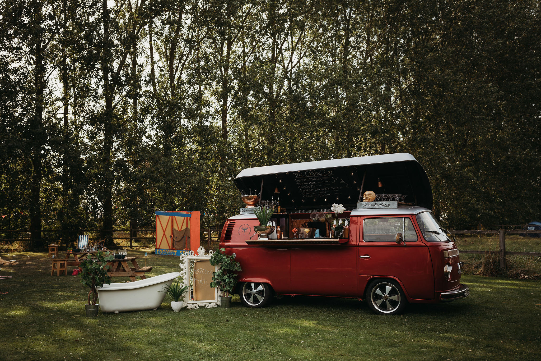 Camper van cocktail bar