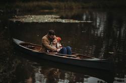 Canoe and Waterlilies