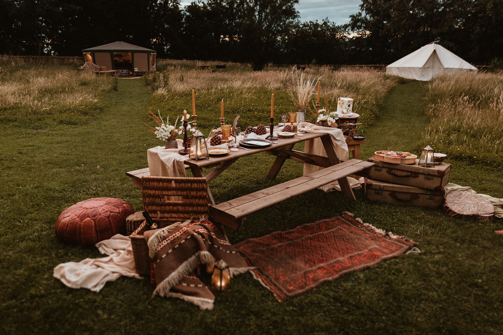 Dining in the glampsite