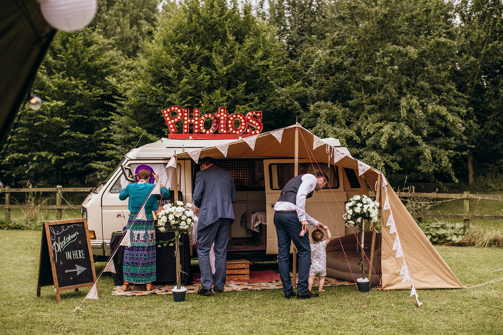 Wedding photo booth camper van