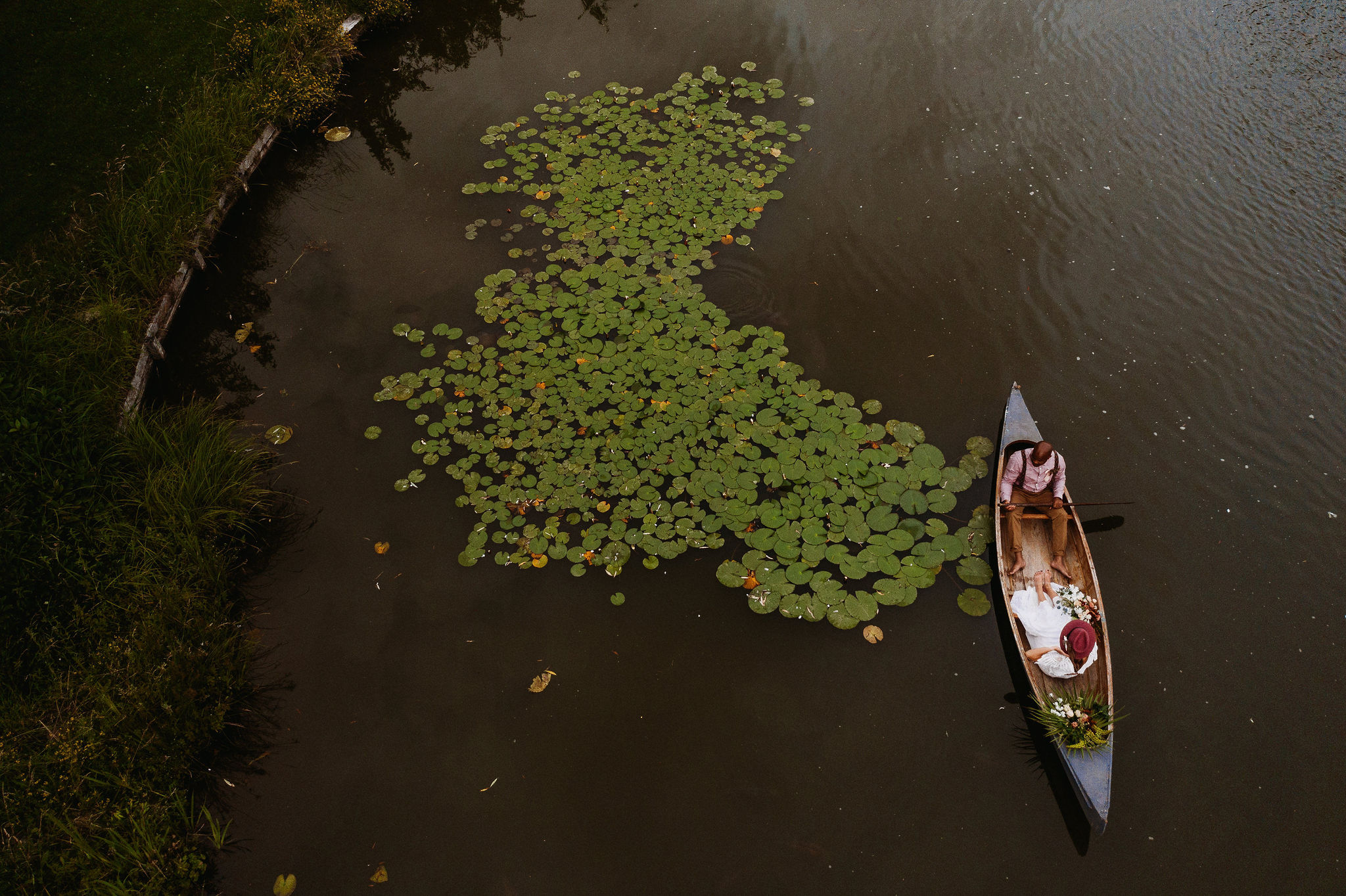 Boat and Water Lilies