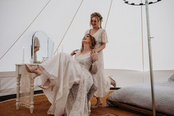 Brides in Bell tent