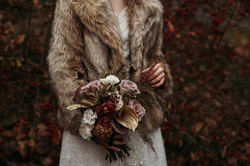 Autumnal brides bouquet