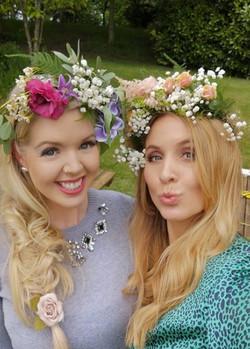 Hen do floral crowns