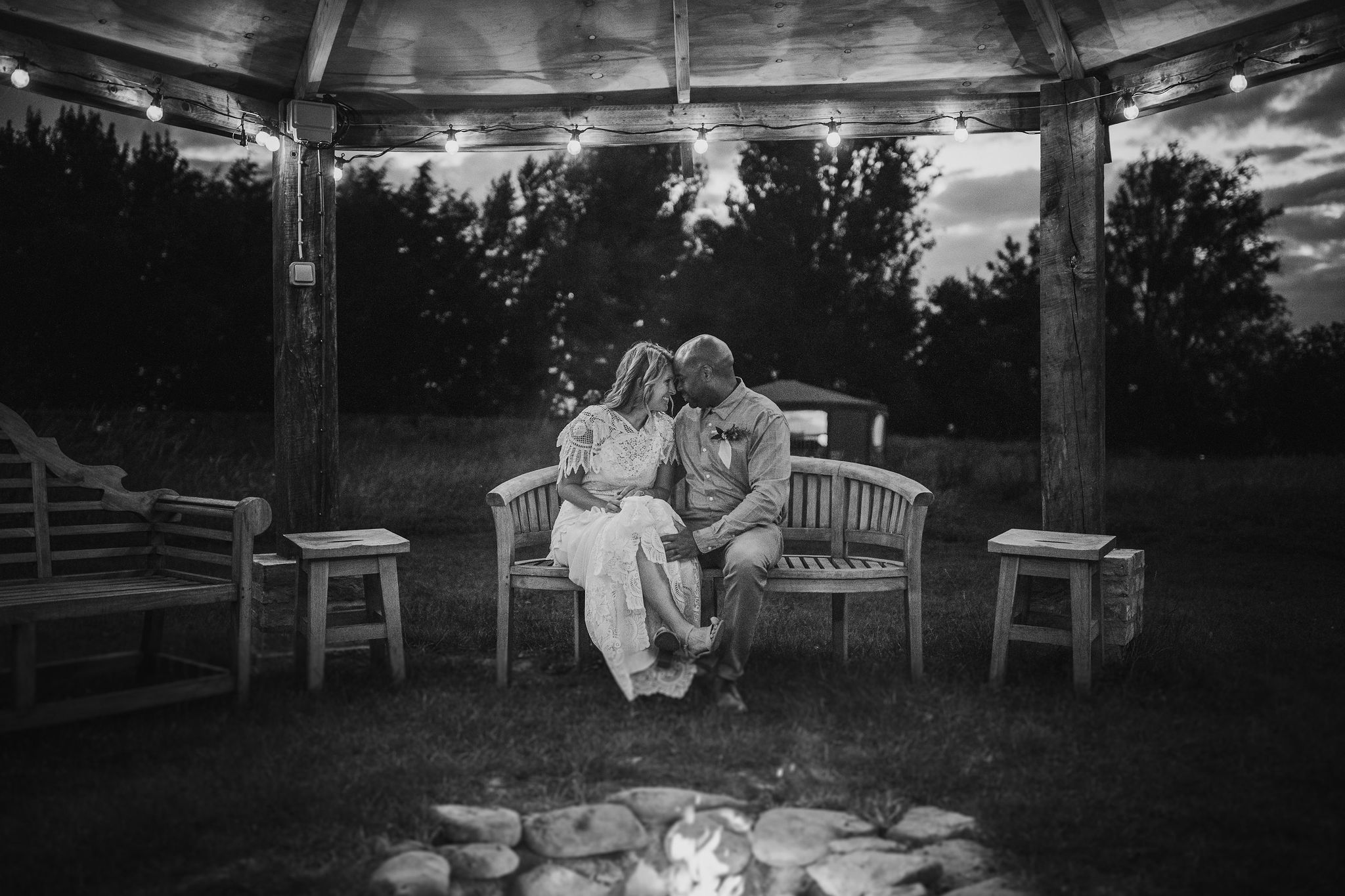 Couple by the Firepit