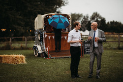 Wedding guests with cocktails