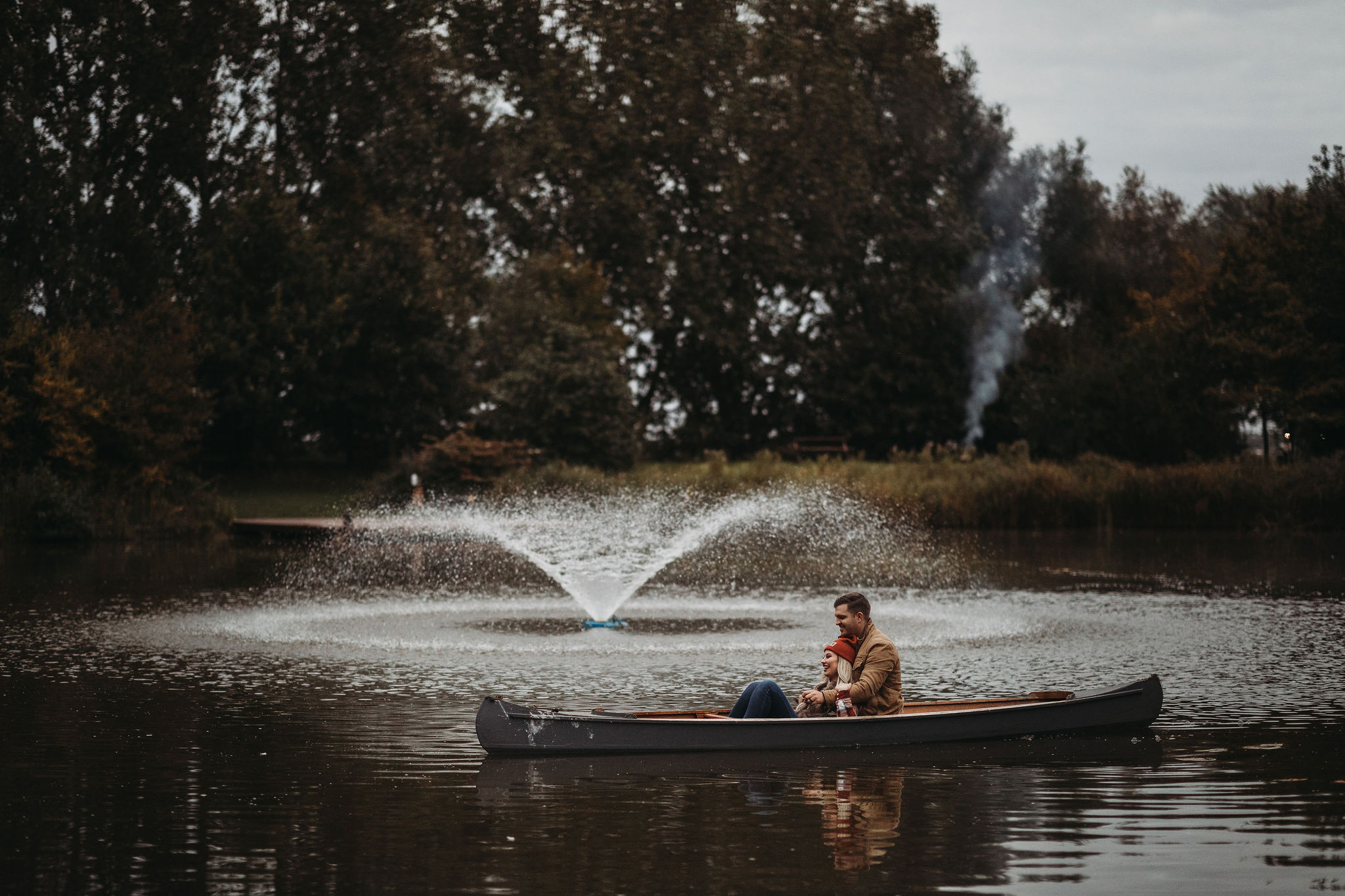 Canoe, Lake & Fountain