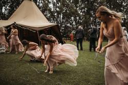 Lavender wedding walkway
