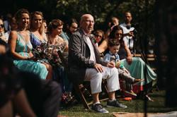 Proud Dad at Wedding