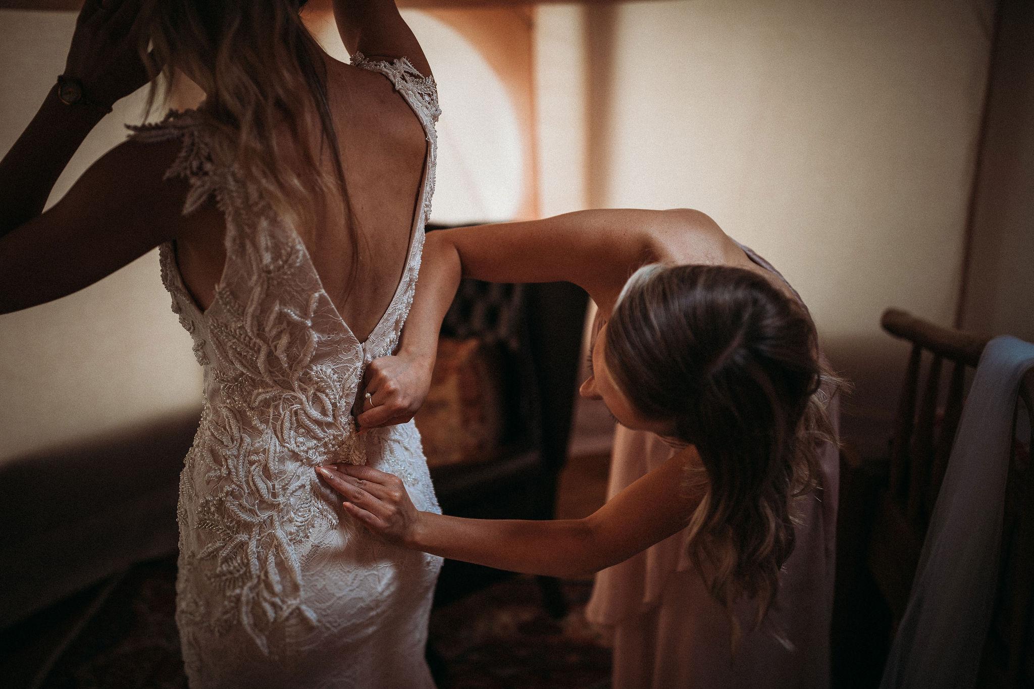 Brides final preparations