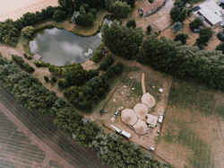 Aerial view of Horsely Hale Farm