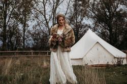 Bride in glampsite