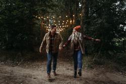 Festoon Lit Couple