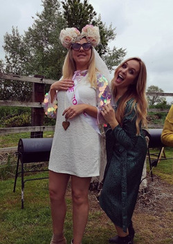 Bride to be with friend