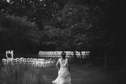 Bride and wedding venue