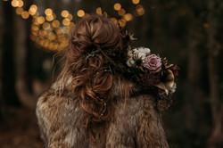 Autumn bridal hair design