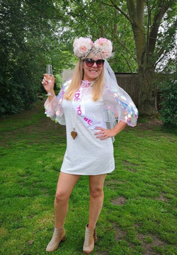 Bride to be dressed up