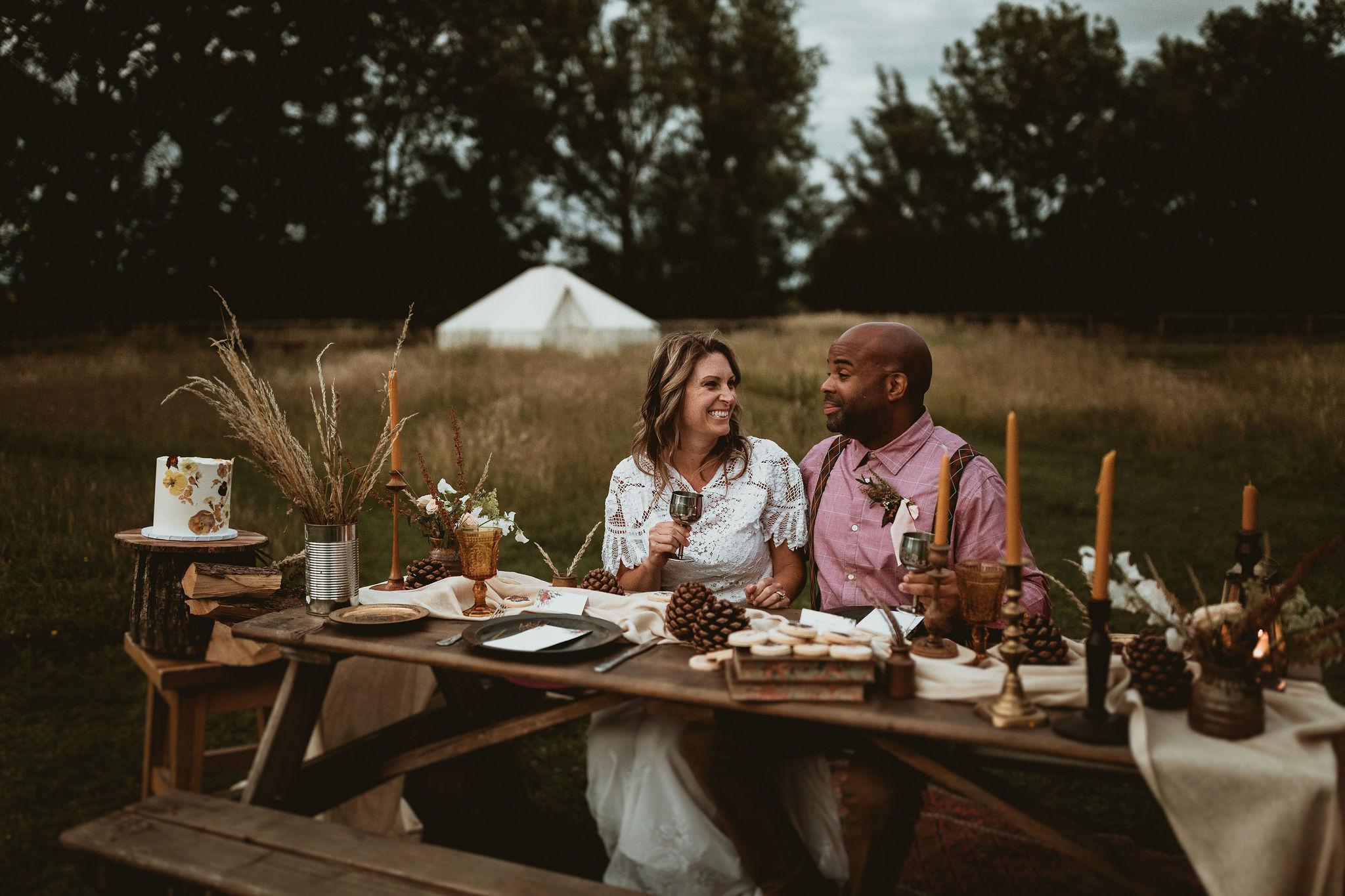 Glamping Wedding Couple