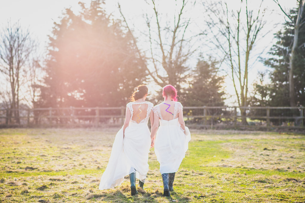 Brides in wellies
