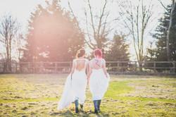Brides in wellies