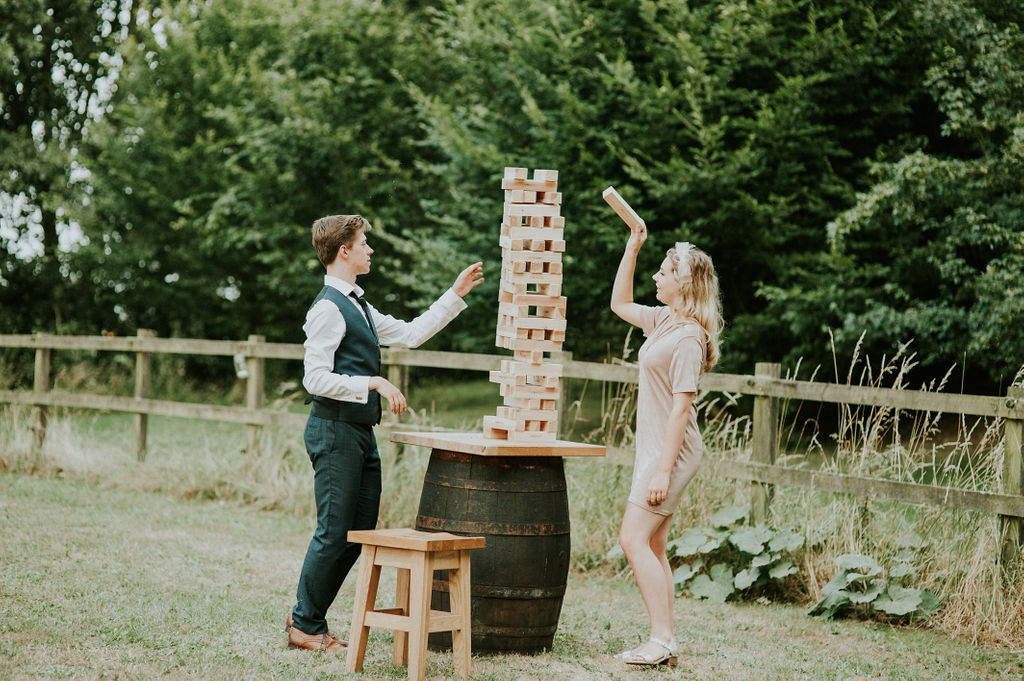 Wedding Jenga game