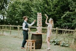 Wedding Jenga game