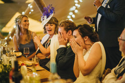 Shocked Bride and Groom