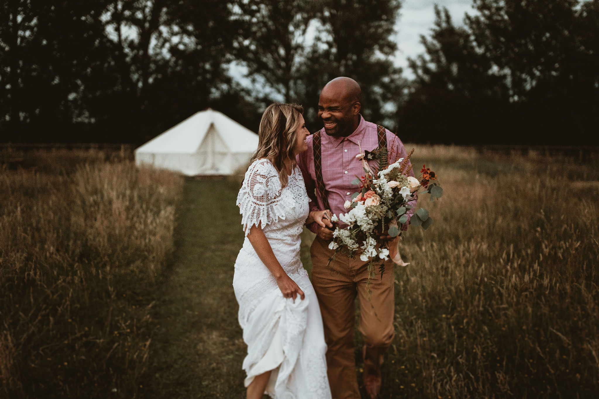 Couple and Bell Tent