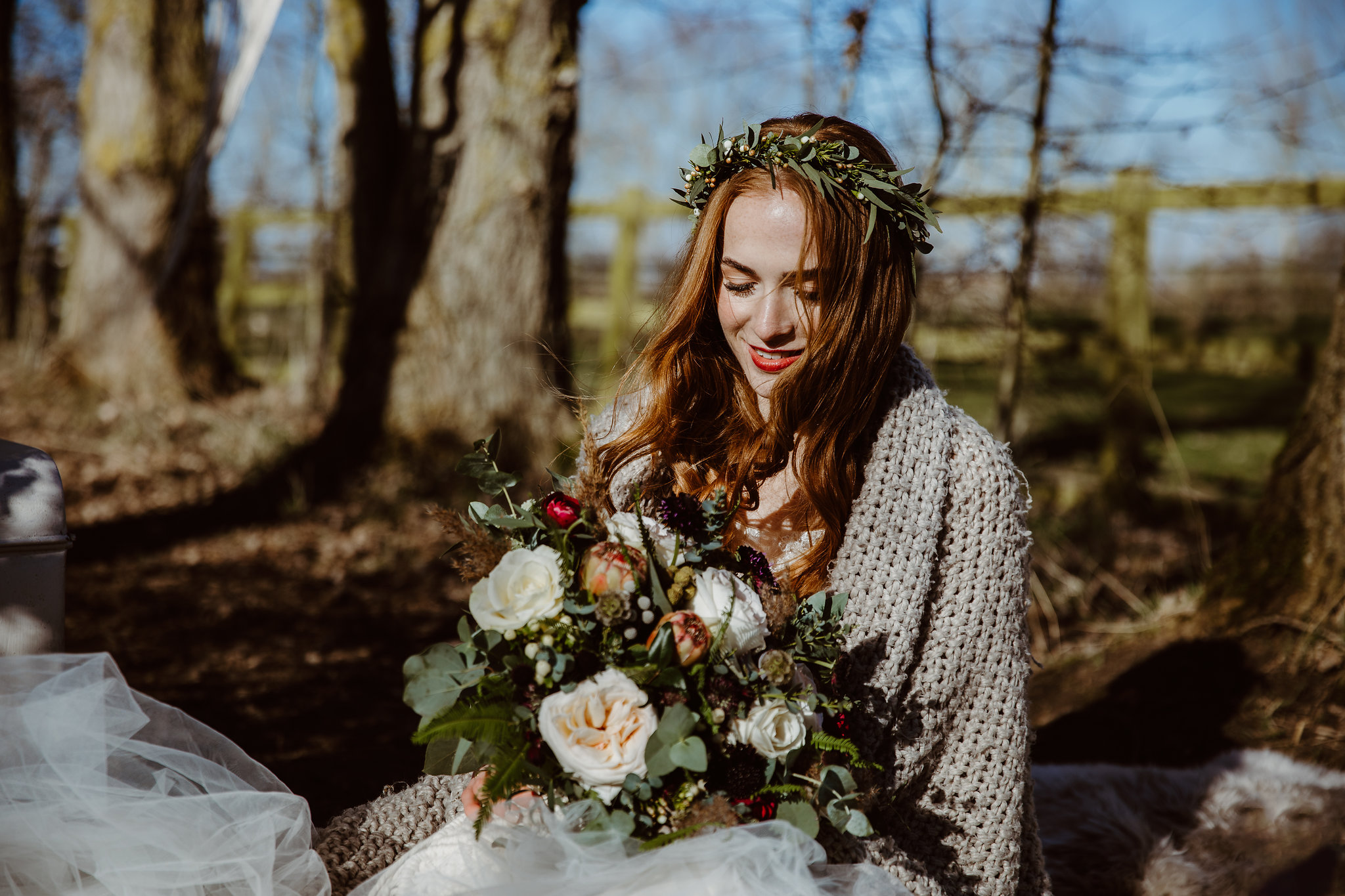 Winter bridal flowers