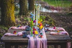 Colourful wedding table