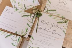 Natural wedding stationary