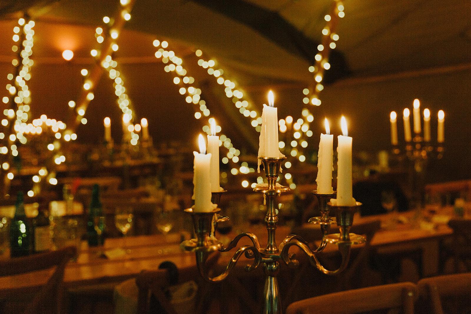 Candlelit wedding