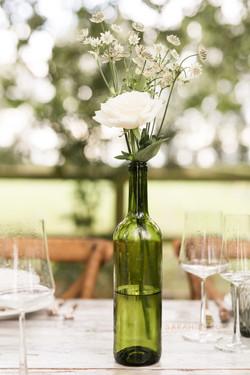 Simple wedding table arrangement