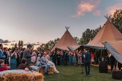 Open Air Tipi Wedding Reception