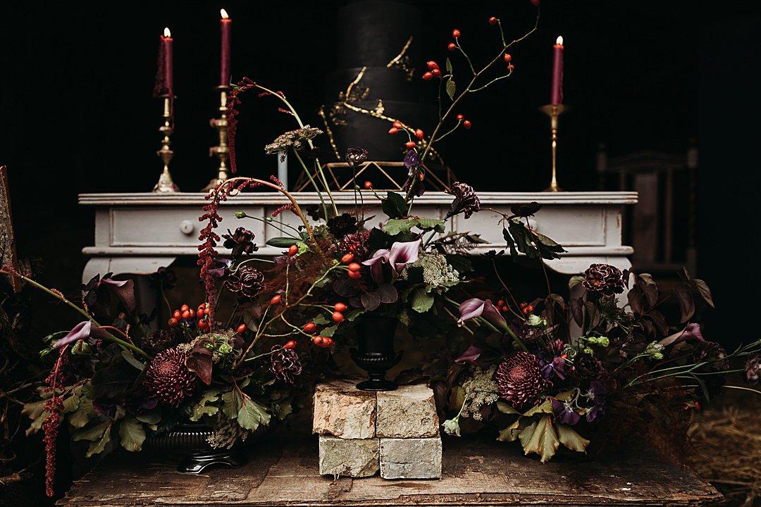 Autumnal wedding flowers