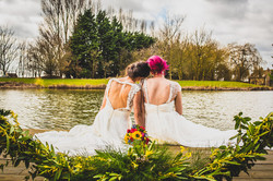 Brides by lakeside