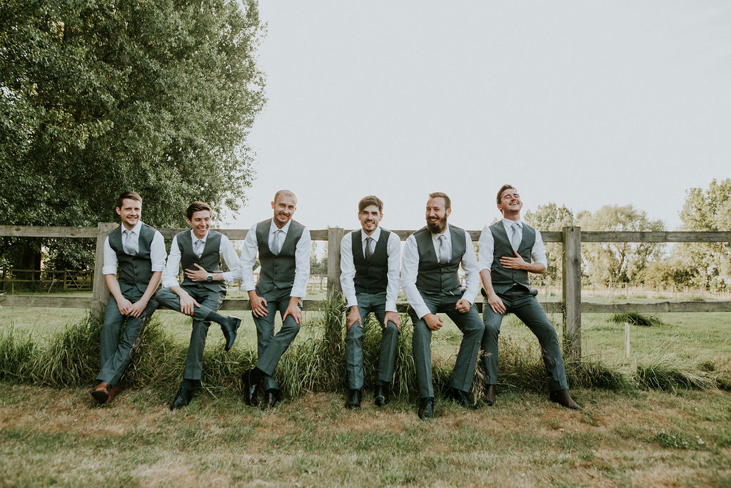 Groom and Bestmen