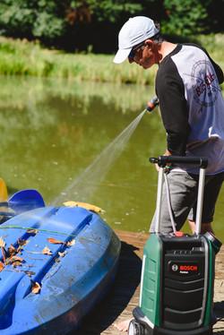 Cleaning Kayaks
