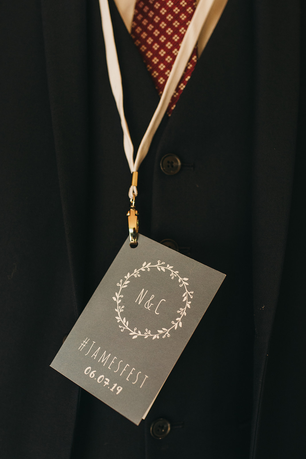 Wedding lanyard